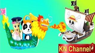 Trò chơi KN Channel BÚP BÊ TẬP LÀM NGƯỜI GIAO HÀNG BẰNG THUYỀN RỒNG ĐẾN ÔNG GIÀ NOEL