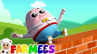 humpty dumpty sat on a wall | nursery rhymes Farmees | kids songs | baby rhymes by Farmees