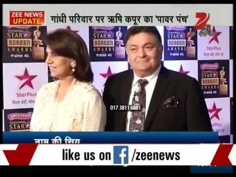 Rishi Kapoor attack on Gandhi Family