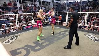 Katya PhuketTopTeam vs Natalie Rattachai Female Muay Thai fight 23 August 2017