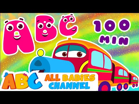 ABC Train Song  ABC Songs for Children & Nursery Rhymes    All Babies Channel