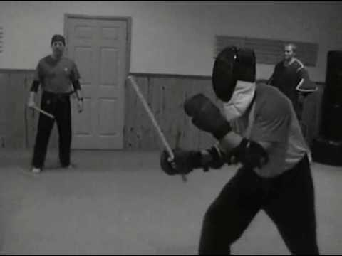 IRT Full Contact Stick Fighting With Fencing Masks & Rattan.wmv Image 1