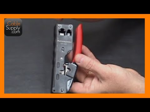 Crimping a RJ11 / RJ14 cable with the Platinum Tools Tele-Titan Crimp Tool