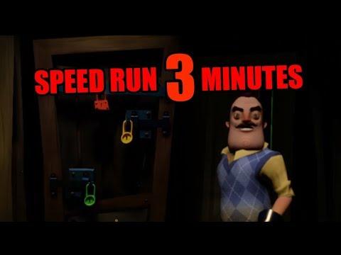 Hello Neighbor Act 1 Speedrun [3 MINUTES]