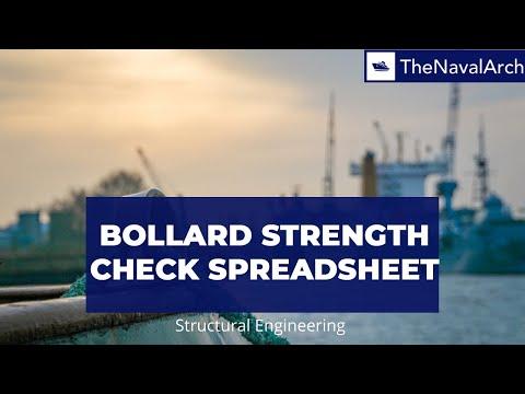 Bollard Strength Check Spreadsheet (www.thenavalarch.com)
