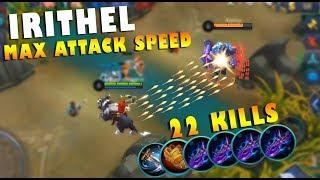 NEW HERO IRITHEL MAX ATTACK SPEED BUILD GAMEPLAY! INSANE DAMAGE!