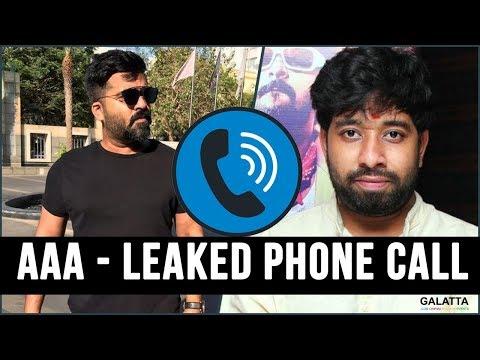 AAA Controversy : STR posed life threat to Adhik Ravichandran?   Simbu Phone Conversation