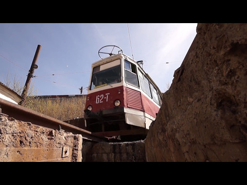 Трамвай КТМ-5 с необычных ракурсов