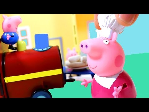 Свинка Пеппа  Мультфильм Паровозик дедушки свина
