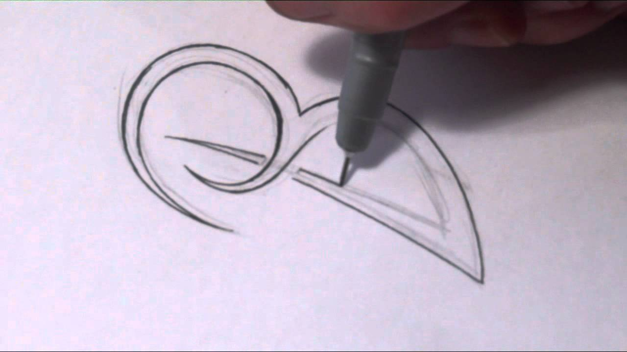 how to draw a simple tribal letter b