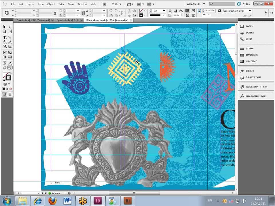 Уроки Adobe InDesign CS5, часть 01 - YouTube