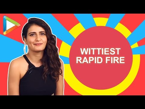 WITTY: Fatima Sana Shaikh TOP-CLASS rapid fire on SRK, Ranveer, Thugs of Hindostan thumbnail