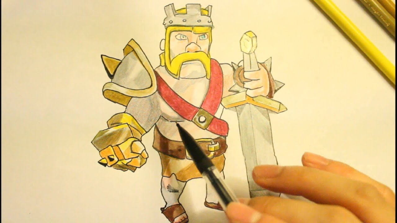 Swords Clashing Drawing How to Draw a Barbarian King