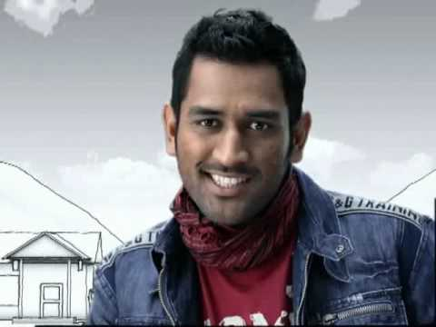 MS Dhoni in Aircel Pocket Internet Tv Advt