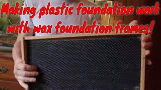 🔵Converting wax frames to plastic foundation frames
