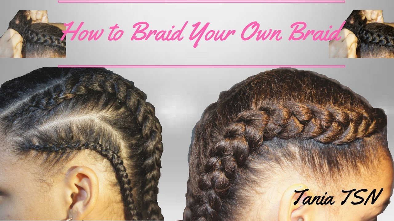How to braid your own hair to the side