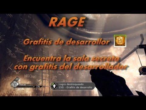 Rage Guía - RAGE Grafitis de desarrollo-Encuentra la sala secreta con grafitis del desarrollador- Dev Graffiti
