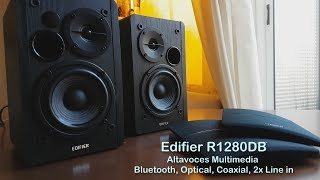Altavoces Edifier R1280DB, 42 Watts, Bluetooth, Optical, Coaxial, Line-in...