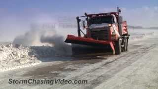2/26/2014 Stearns County, MN Ground Blizzard Evening B-Roll
