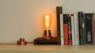 Edison Bulb Bookends Lamp
