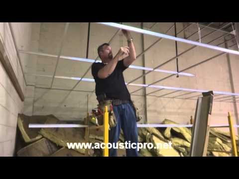 Drop Ceiling Grid n Tile Acoustical Install Video  ( Acoustic Pro ) Music Videos