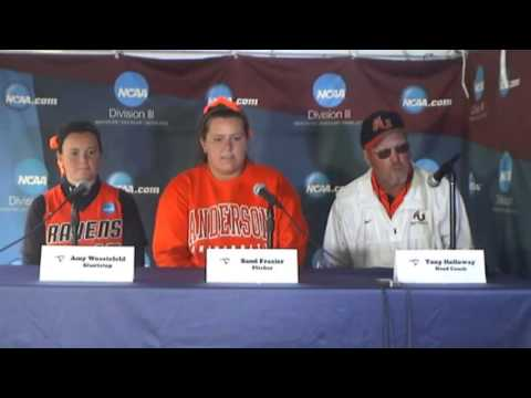 2013 NCAA DIII Softball Championship - Game 2 - Anderson