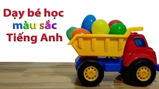 Dạy bé học màu sắc tiếng Anh - Bé học tiếng Anh - Learn colors with egg toys for kids.