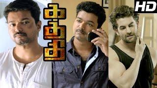 Kaththi | Kaththi Tamil Movie scenes | Vijay threatens Neil Nitin Mukesh | Vijay Mass scene | Vijay