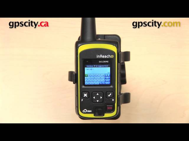 DeLorme inReach SE: Using the Keyboard with GPS City