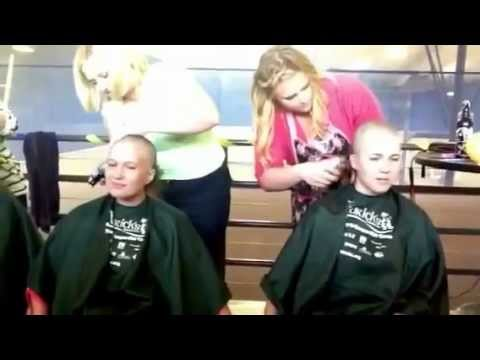 Three Women Shave Their Heads For Charity - St Baldricks - 2012 video