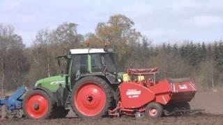 Land with fendt favorit 711 vario and lemken vrolijk landbouw