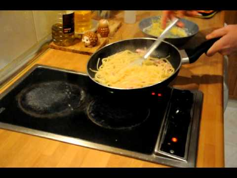 receta espagueti \ spaghetti a la carbonara GBonGourmet TU COCINERO ITALIANO