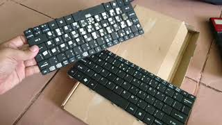 Cara bongkar pasang keyboard di laptop jadul Acer One D255