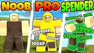 Booga Booga NOOB vs PRO vs ROBUX SPENDER in ROBLOX