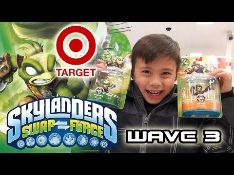 Skylander Hunting SWAP FORCE WAVE 3 at TARGET - Stink Bomb. Spy Rise & Rubble Rouser