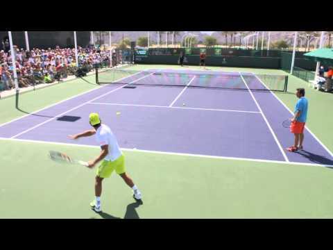 Rafael Nadal training in 60fps (Indian Wells 2015)