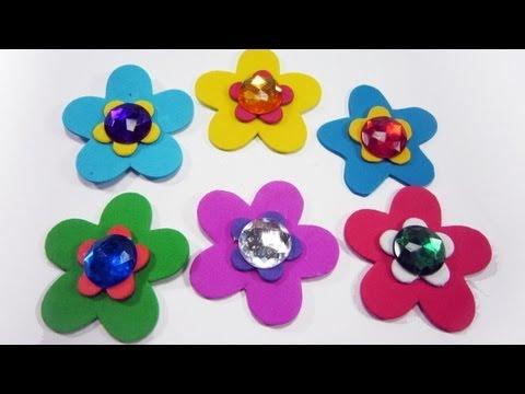 Episodio 532- Cómo hacer flores de fomi en capa para decorar o ...