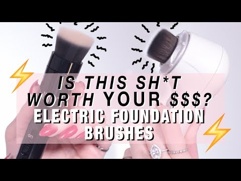 WTF?! VIBRATING SONIC Makeup Brushes from CLARISONIC + DOLL 10  | The Foundation Brushes You Need?