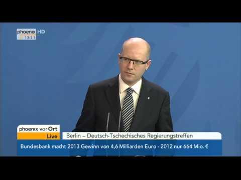 Deutsch-Tschechische Beziehungen - PK von Merkel & Sobotka am 13.03.2014
