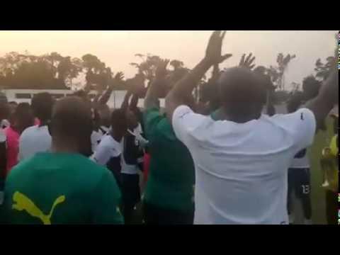Ghana Black Stars 'Jama' Before Algeria 2015 AFCON Game