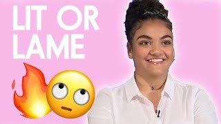 Laurie Hernandez Ranks Country Music and Video Games | Lit or Lame