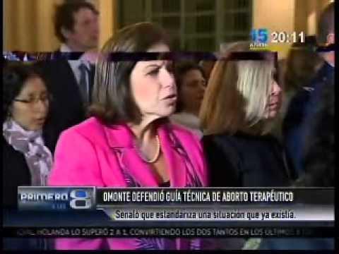 Ministra de la Mujer defendió la guía del aborto terapéutico