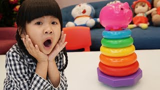 Be Bun Learn colors with Pig Stacking Ring Part 2