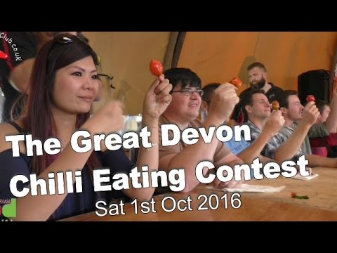 Chilli Eating Contest   Great Devon Chili Challenge   Saturday 1st October 2016