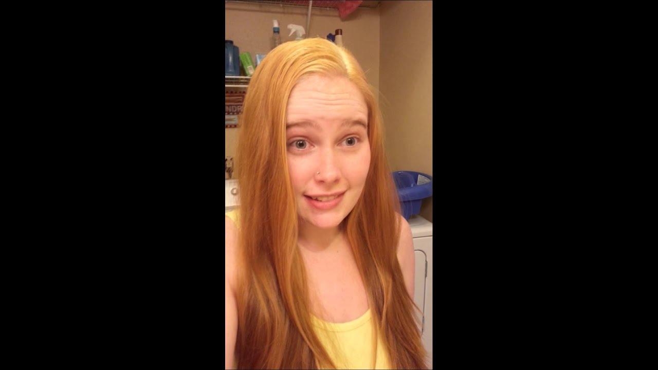 Dark Brown To Strawberry Blonde Youtube