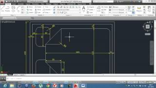 16-)UYGULAMA-6 Fillet Chamfer / AutoCAD Education /