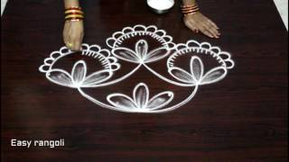 creative ideas of rangoli art designs with dots || simple kolam designs with dots || muggulu designs