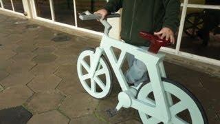 How to make a cardboard bike