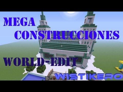 Como hacer Mega Construcciones (-SPcomands-Mod Minecraft)  (-WorldEdit-Tutorial Basico)