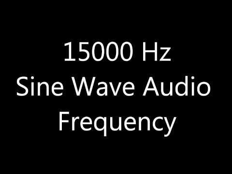 15000 Hz 15 kHz Sine Wave Sound Frequency Tone